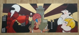 Painted for Boomtown 2013. In the Mayfair district. Approx 6m w x 3 M h.
