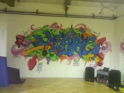 Marina studios, 'Inspire' mural. Dec 2013