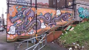 Dragon Mural, Brighton
