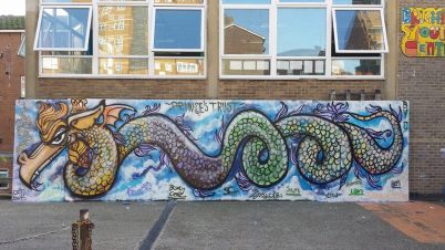 Brighton Youth Centre Dragon.Workshop with The Prince's Trust. 2015