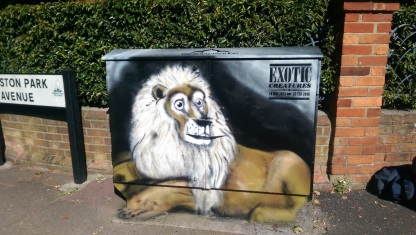 Lion. Exotic Creatures project. Box Art. 2015.