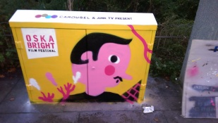 Oska Brighton Film Festival Box art. 2015.