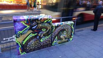 Neon box dragon.Brighton 2015