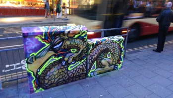 Neon box dragon.Brighton 2015