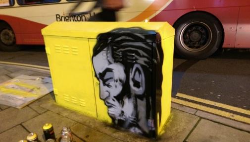 Akala box art. Brighton 2015.