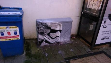 Star wars tribute. Box art. Brighton. 2016.