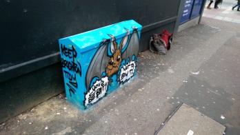 Batty box art. City Clean Project 2016.