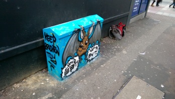 Batty box art. City Clean Project 2016.