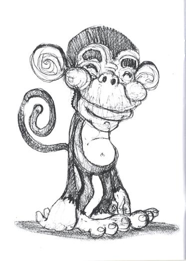 Monkey sketch.